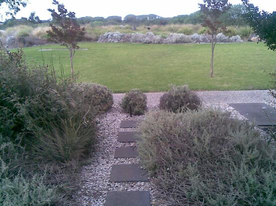 Quest Williamstown North: Immediately in front apartment 5 is a small tailored garden of pebbles & stepping stones.