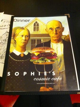 Sophie's Cosmic Cafe: Menu