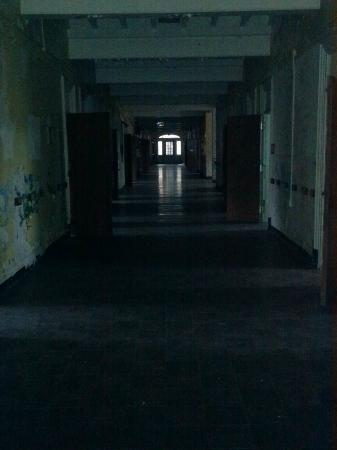Trans-Allegheny Lunatic Asylum: Ward hallway with patient rooms