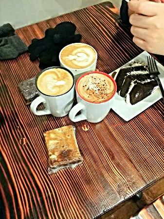 Station Coffee Company: -good times with friends. It's a great day to satisfied our cravings.I really love their cheesec