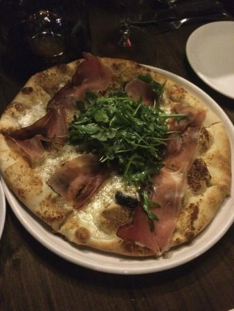 Osteria Marco: fig pizza with speck.