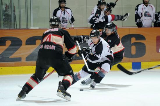 Storms vs Scorpions hockey game in Abu Dhabi Ice Rink taken by Fatima Al Ali
