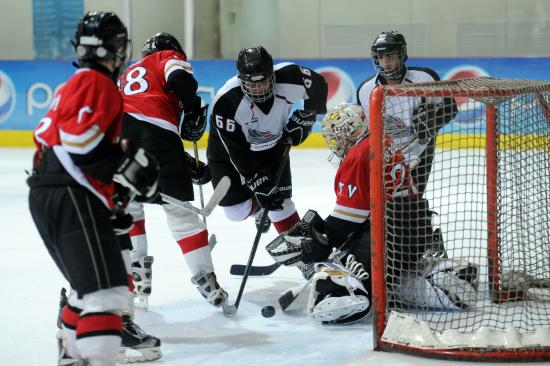 U15 hockey game in Abu Dhabi Ice Rink taken by Fatima Al Ali