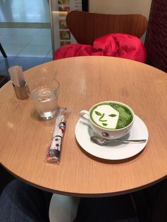 Yojiyakafe: 名物抹茶カプチーノ
