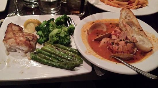 Zane's : Split the Chilean Sea Bass and Cioppino with a friend. Couldn't go wrong, but the Cioppino wins!