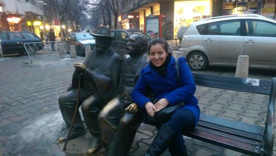 Slaveikov Square : Bulgarian Poets or writers (father and son)