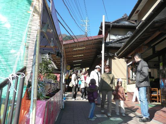 Oyama Cable: お土産店が並ぶな参道