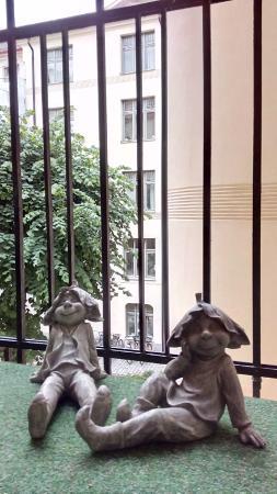 Parlan Hotell: Op het kleine balkon is het prima toeven
