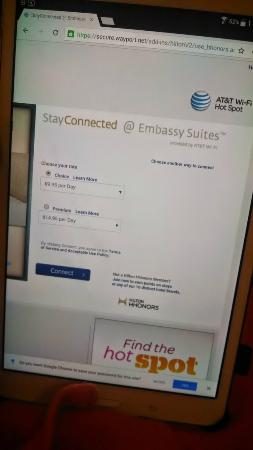 Embassy Suites North Shore / Deerfield: Still charging for wifi!