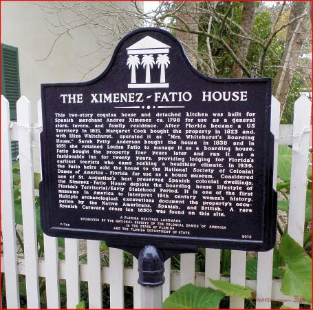 The Ximenez-Fatio House: Site Marquee
