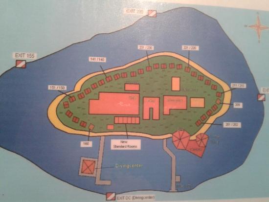 Eriyadu Island: mappa isola