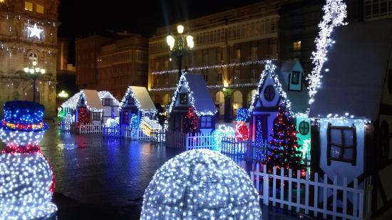 Plaza de Maria Pita : Poblado navideño