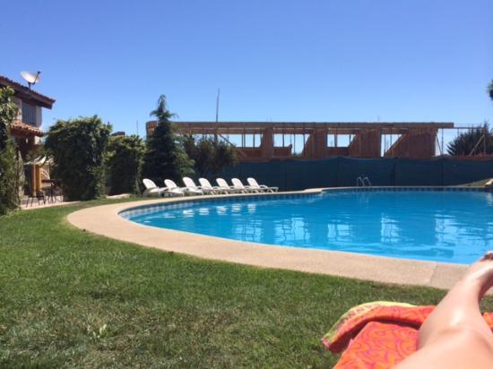 Hotel Casablanca,Spa & Wine : vista real desde la piscina y piezas