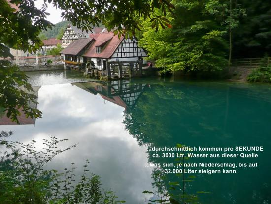 Blaubeuren, Allemagne : Sicht a.d. Mühle / Hammerwerk