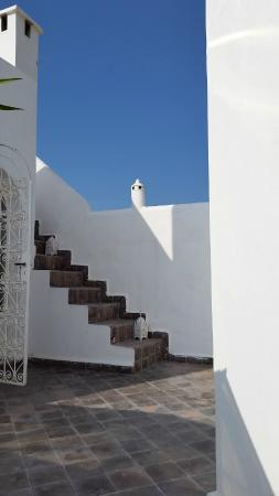 Riad Senso : stair to the roof next to my room