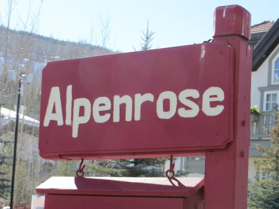 Alpenrose Restaurant: sign