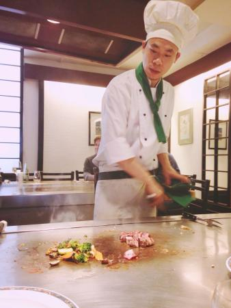 Restaurant Ishihara: Our chef for today ;)