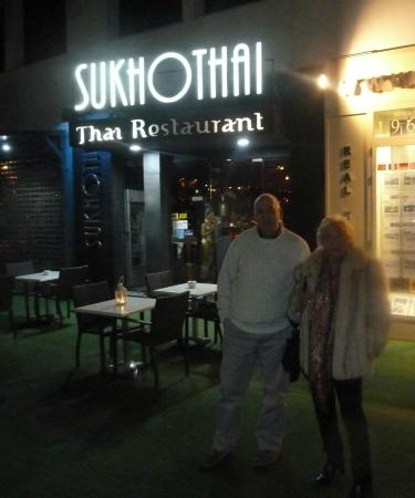 outside Sukhothai