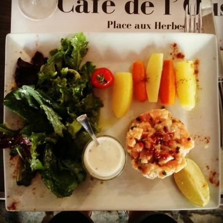 L'Oustal : Tartare de saumon
