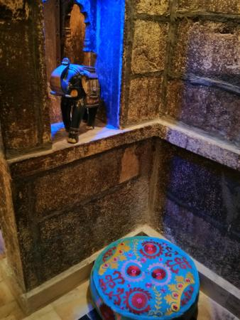 The Blue House Guest House Jodhpur: A restored room which is reportedly centuries old