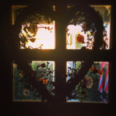Hillcrest House Bed & Breakfast : Heart on the Front Door