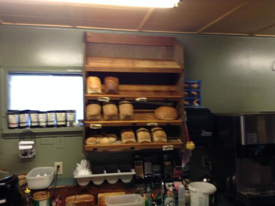 Dragonfly Cafe: The bread rack