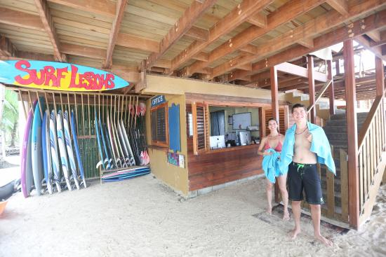 Azul Paradise: Our surf shack, we offer lessons and tours