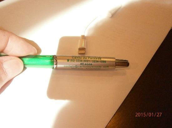 Canto Da Peixada: Ink pen commemorating 40 years that the restaurant has been open.