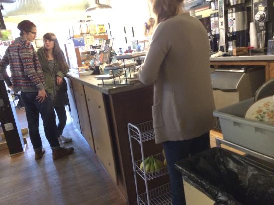 The Dripolator Coffeehouse: inside at the counter