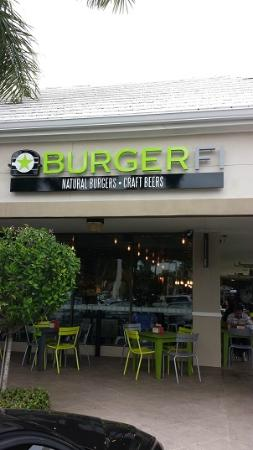 BurgerFi : The outside entrance, in the corner of a strip mall