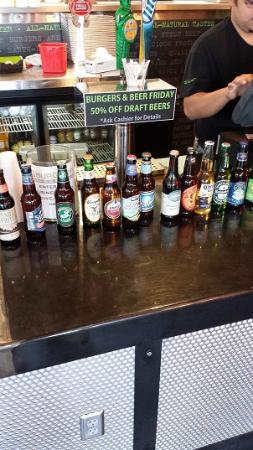 BurgerFi : Great lineup of craft beer for such a small place
