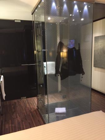Hotel Ciudad de Móstoles: La ducha mas original que he visto en un hotel