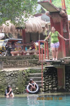 Malumpati Cold Spring: she was able to jump on this plank by too numerous attempts and prayers....
