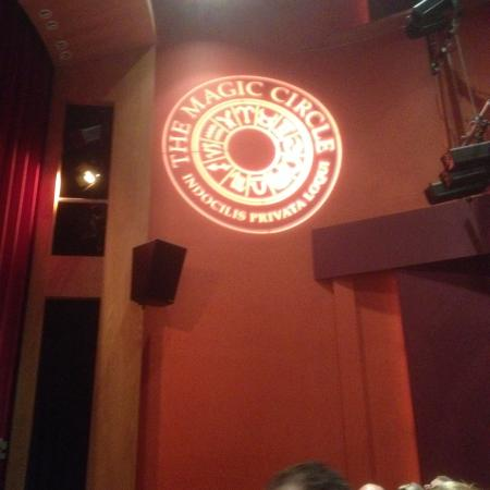 The Magic Circle : Logo in the theatre