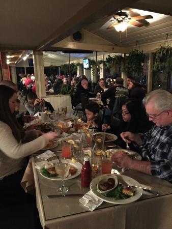 Blue Pete's Restaurant: Birthday Girl on the left, in white.