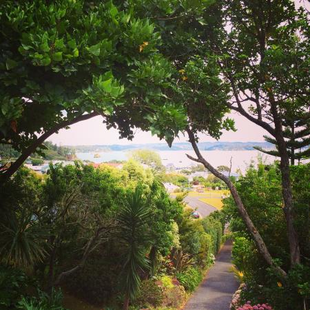 Villa Russell: View from verandah towards the bay.
