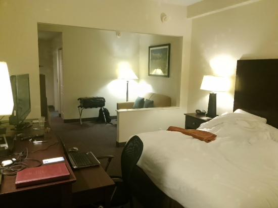 Comfort Suites: large room with everything needed