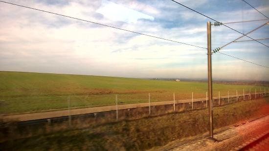 TGV Flat Plains Of French Countryside