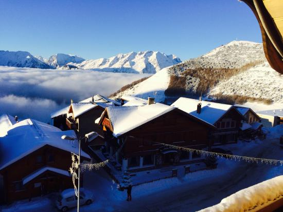 Chalet Hotel Mariandre : View from the room on first morning