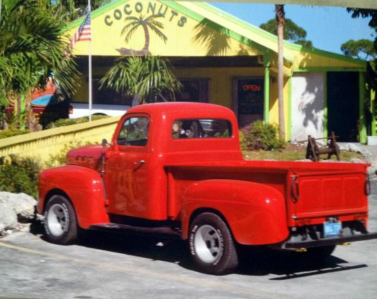 Coconuts Bar & Liquor Store: My husband Bobby Howard's Truck, parked out in front of Coconuts.