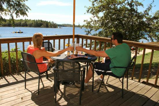Ruttger's Bay Lake Lodge: View from the Deck