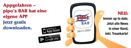 Pipo's Bar: pipo`s BAR jetzt auch als App