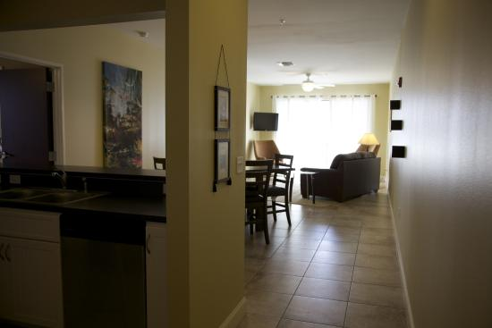 Key West Resort on Lake Dora : Living and kitchen area in our Two Bedroom Suite