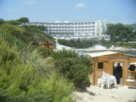 Palladium Hotel Don Carlos: View of the hotel from outside of beach