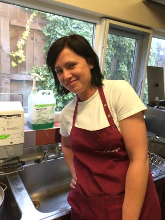 The Farmers Boy Pub and Restaurant: Milena in the Kitchen