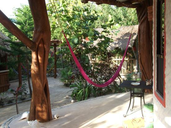 Villa los Mangles: Kleine Terrasse vor dem Apartment
