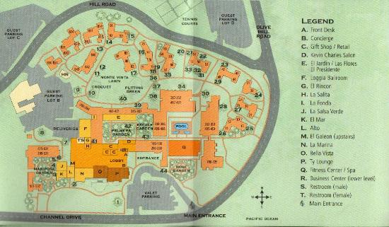 Grounds Map - Picture of Four Seasons Resort The Biltmore ...
