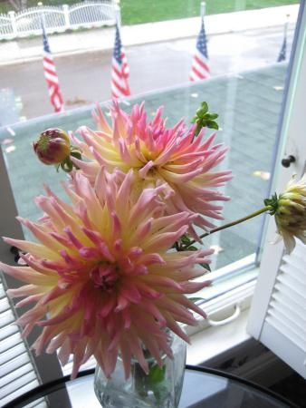 Inn on Mackinac: A surprise of fresh-cut flowers at the end of season, from The Inn's Garden