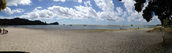 Mangawhai Heads Holiday Park: view from the campsite