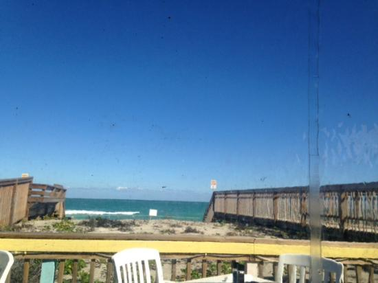 Shucker's: one of our views from the outside deck